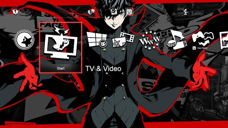 how to download psn persona 5 theme